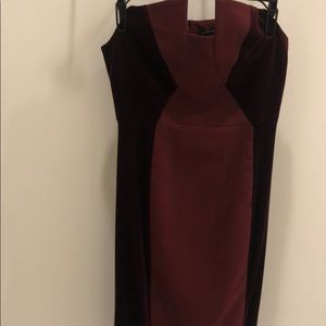 Black Halo Strapless Dress